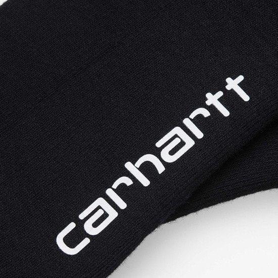 Carhartt WIP Grant Socks I026894 BLACK/FROSTED TURQUOISE/SAFETY ORANGE