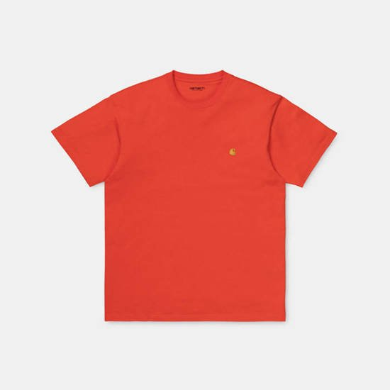Carhartt WIP S/S Chase T-Shirt I026391 SAFETY ORANGE/GOLD